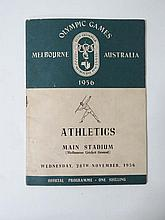 Olympic Games: An Official Programme for the 1956
