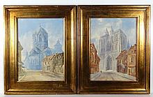 Van Holbien XIX Flemish School Pair of