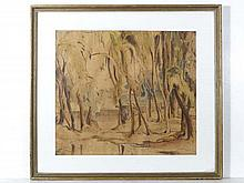D J Avery Parys 1944 Watercolour Man standing