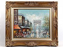 Garber XX French Oil on canvas Arc de Triomphe ,