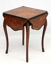 A French ormolu and marquetry inlaid Louis XV drop