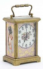 Porcelain panel Carriage Clock : an Old Sevres sty