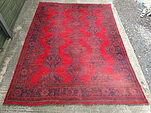 Carpet / Rug: a Turkish woollen carpet, formerly f