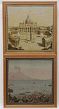 Early - mid XX needlework, Scenes in Italy , a pai