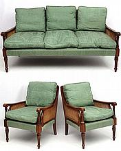 Bright's of Nettlebed : A 20thC bergere suite comp