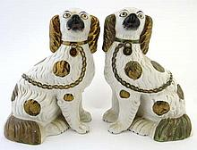 A pair of Victorian Staffordshire spaniels