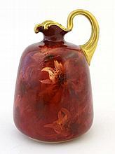 A Doulton Burslem jug hand-painted by Joseph