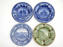 American : four souvenir plates ; Los Angeles by