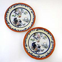 A pair mid 19thC ironstone plates, probably