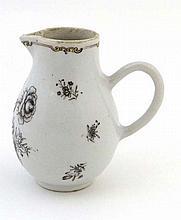 A Chinese porcelain sparrow beak jug decorated en