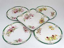 A set of four 'Royal Doulton Plates and a sweet me