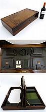 A c.1910 unusual inlaid walnut  writing box with g