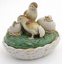 Kitchenalia :   A late 20thC ceramic novelty egg b
