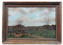 English school, late XIX Oil on canvas Landscape