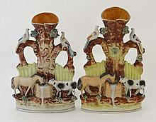 A 19th Century pair of Victorian Staffordshire