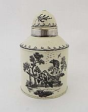 A late 18th Century Leeds cream ware tea caddy,