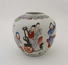 An early 20th Century Chinese ginger jar with