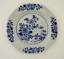 An 18th Century Chinese blue and white plate