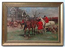 DAB 1904 Oil on canvas The Cheshire Hunt meeting