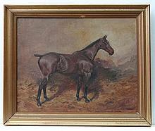 Thomas Ivester Lloyd (1873-1942) Equine Oil on