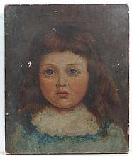 XIX English School Oil on canvas Portrait of young