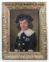 K Gehm XIX Continental School Oil on canvas Child