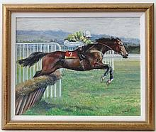 Jane Dunn late XX (horse racing) Oil on board