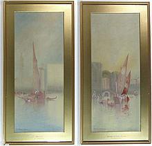 Anton Perique XIX-XX Venetian School Watercolours