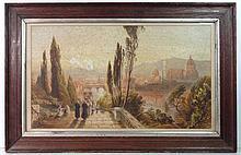 XIX-XX Italian School Watercolour Florence , Paso