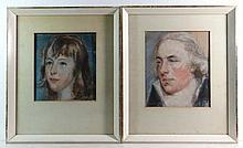 John Hoppner , R.A. (1758-1810) Pair of coloured