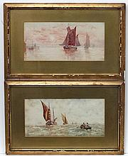 ' V S ' Marine School, Watercolours , a pair, Fish
