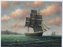 James Hardy XX Marine School, Oil on board, A merc
