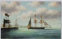 James Hardy XX Marine School, Oil on board, Sail s