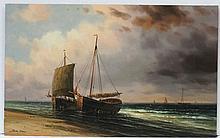 James Hardy XX Marine School, Oil on board, Fishin