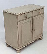 A Victoria Ducal painted pine sideboard of 2 drawers and 2