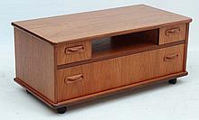 Vintage Retro : a teak wide low cabinet with one wide drawe