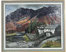 David J Waterhouse Mid XX, Oil on board,' Grange-in-Borrowd