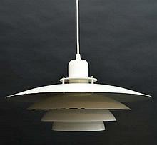 Vintage Retro : a Danish designer pendant light / lamp labe