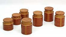 Vintage Retro : Hornsea Ceramic Storage jars in' Saffron' p