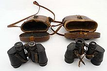 WWI : A cased pair of British Army issue binoculars by E Kr