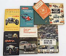Automobilia / Books: A collection of 8 books on vintage car