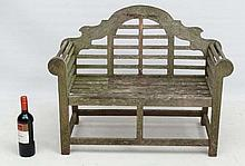 Garden and Architectural : A weathered teak Lutyens style c