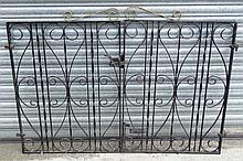 Garden and Architectural : a pair of painted wrought iron g