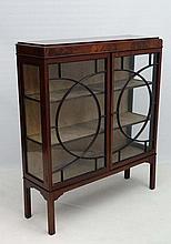 A circa 1900 mahogany 2-door astral glazed display case 41