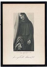 After F. Bruckmann AG Munchen ,  Autographed image 1930,  Actress , signed under ' Anna Rutz Maria 1930 '  Aperture 11 1/4 x 7 3/4