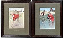 After Lawson Wood ( 1878-1957),  Pair of coloured prints, originally 1910,  Card Games,  ' Whist