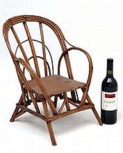 An early 20thC child's Bentwood chair 18 3/4