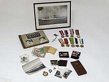 Militaria : FX ( Fleet Air Arm ) 735678 P C Leal CAF ( Canadian Armed Forces ) HMS Osprey : A collection of naval ephemera , to include a group of WWII campaign medals ( Atlantic Star , France and Germany Star , Italy Star , Pacific Star , Burma Star