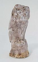 A David Sharp, Rye Pottery bust of an Owl.  Signed under. 11'' High.