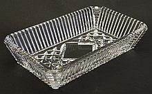 Waterford crystal : A cut crystal butter dish / butter dish of rectangular form 7 1/4